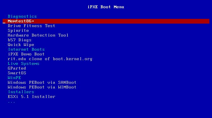 PXE Booting and Utilities Menu - Brandon's Tinkerings